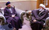 دیدار رهبران مقاومت و جریانهای شیعی عراق با شیخ عیسی قاسم