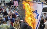 پرچم رژیم اسرائیل در پایتخت انگلیس به آتش کشیده شد