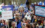 صد ها هزار تن از مخالفان برگزیت در لندن به خیابان ها امدند