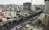 بازتاب راهپیمایی روز قدس در رسانههای بینالمللی/ ایرانیها یکصدا به معامله قرن «نه» گفتند