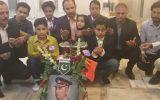 آئین گلافشانی بر سر مزار فرمانده سابق ارتش پاکستان در مشهد مقدس برگزار شد