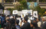 حمایت مجدد مشهدیها از مردم مظلوم کشمیر این بار مقابل حرم مطهر رضوی+تصاویر