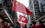 حامیان دولت چین به خیابان ها آمدند