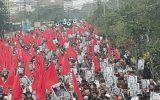 تظاهرات ضدآمریکایی هزاران پاکستانی همزمان با سفر معاون پامپئو به اسلام آباد +تصاویر