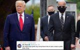 ترامپ: بایدن برای پوشاندن جراحی پلاستیک صورتش ماسک میزند!