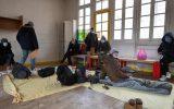 اسکان مهاجران در مدرسه ای متروکه در فرانسه