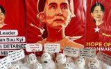 اعتراضات خلاقانه میانماریها با تخممرغهای عید پاک/ارتش در تعقیب چهرههای مشهور
