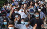 مخالفان واکسیناسیون کرونا ولایحه افزایش قدرت پلیس درلندن تظاهرات کردند