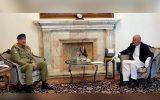 ملاقات فرمانده ستاد ارتش پاکستان با مسئولین دولت افغانستان