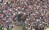 اهتزاز پرچم فلسطین در تظاهرات بزرگ شیکاگو+عکس و فیلم