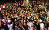 جشن و پایکوبی مردم سوریه با اعلام پیروزی بشار اسد در انتخابات+ تصاویر