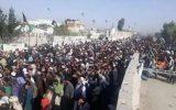 ازدحام هزاران مهاجر افغانستانی در نزدیکی مرز مشترک با پاکستان