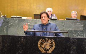 اجلاس عمومی سازمان ملل| بیان مساله کشمیر و درخواست حل آن از سوی نخست وزیر پاکستان